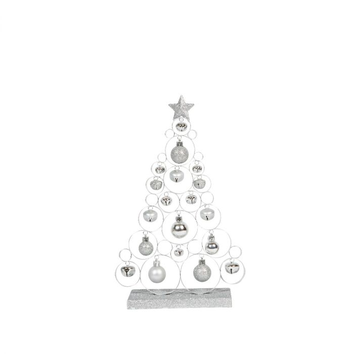Small Silver Christmas Tree.Jingle Bell Tree Small Silver
