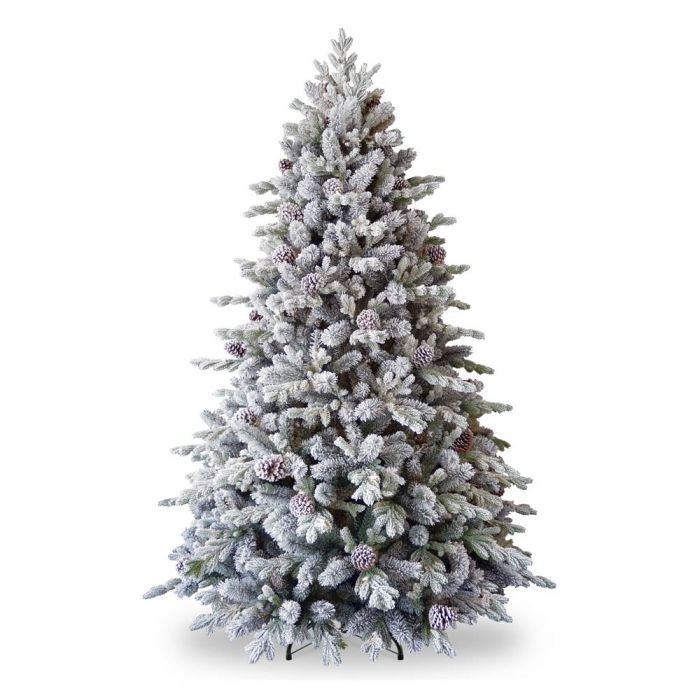 Artifical Christmas Trees.Feel Real Snowy Dorchester Pine Artificial Christmas Tree 6 5ft