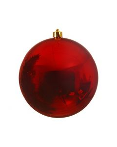 Plain Bauble Shiny Christmas Red