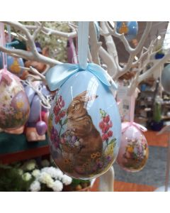 Large Pink or Blue Decorative Easter Bauble