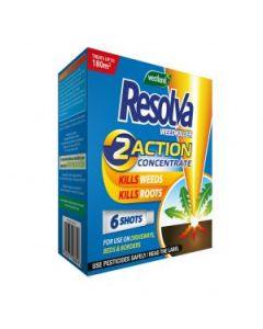 Resolva Weedkiller 2 Action Concentrate Liquid Shots 6 Tube
