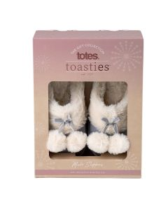 totes Ladies Cord Faux fur Lined Mule Slipper