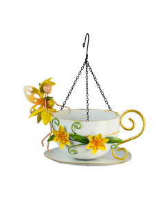 Fairy Hanging Bird Feeder Daffodil