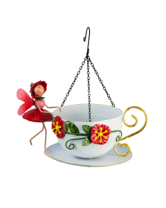 Fairy Hanging Bird Feeder Poppy