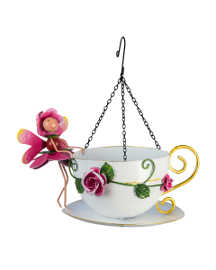 Fairy Hanging Bird Feeder Rose