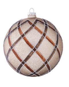 Brown Plaid Bauble