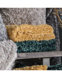 Woodlander Faux Fur Throw Ochre