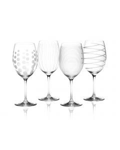 Mikasa Cheers Red Wine Glasses Set of 4