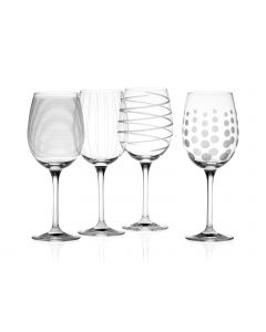 Mikasa Cheers White Wine Glasses Set of 4