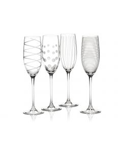 Mikasa Cheers Flute Glasses Set of 4