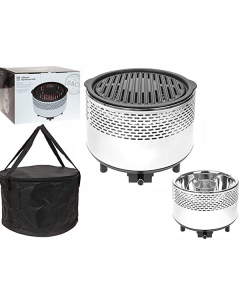 B & Co Smokeless Charcoal Grill White