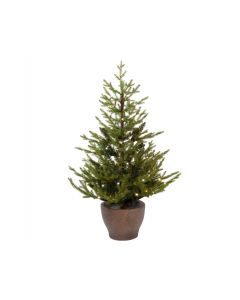 Norway Potted Pre Lit 3ft Artificial Christmas Tree