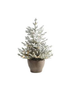 Snowy Norway Potted Pre Lit 4ft Artificial Christmas Tree