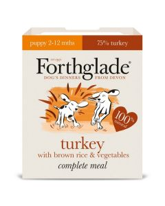 Forthglade Complete Meal Puppy Turkey with Brown Rice & Veg