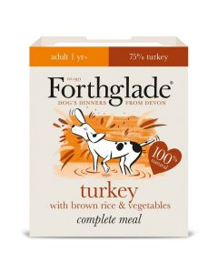 Forthglade Complete Meal Adult Turkey with Brown Rice & Veg