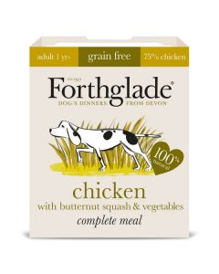 Forthglade Complete Meal Adult Chicken with Butternut Squash & Veg GRAIN FREE