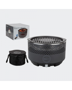 B & Co Smokeless Charcoal Grill Black