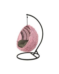 Pink Flower Egg Chair Cover