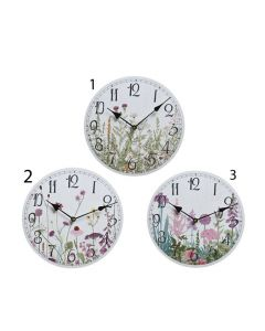 Wall Clock - Flower Print