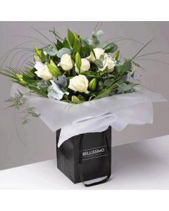 Bianco Bliss Sophistication Handtied Bouquet