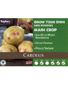 Taylors Bulbs: Carolus 2kg seed Potato's