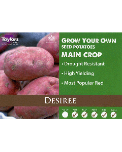 Taylors Bulbs: Desiree 2kg seed Potato's