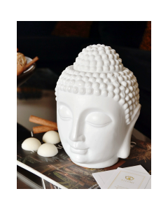 Zen Ceramic Buddha Head Melt Burner With 10 Wax Melts