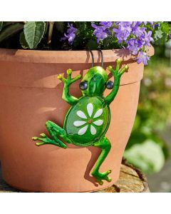 Fancy Frog Pot Hanger