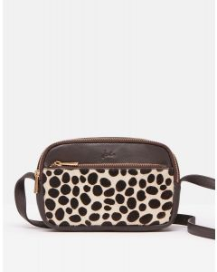 Joules -Farley Leather Cross Body Bag Chocolate