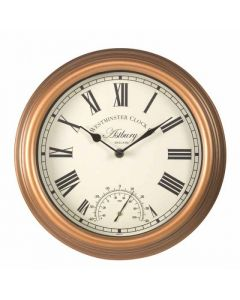 Astbury Wall Clock and Thermometer 12""