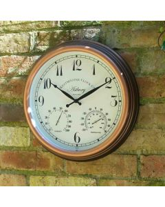 Astbury Wall Clock & Thermometer 15""