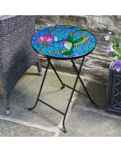 Hummingbird Glass Table