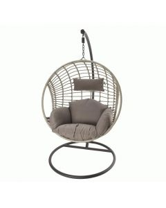 Wicker Hanging Chair - Grey