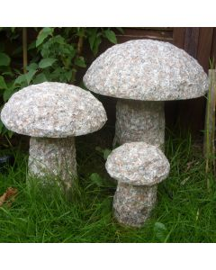 Granite Mushrooms - Set of 3
