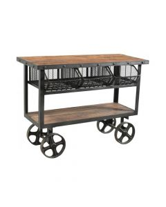 IRON AND RECLAIMED TIMBER TROLLEY