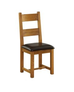 Vancouver Dining Chair - Chocolate Leather Seat