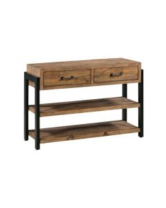 CONSOLE TABLE WITH 2 DRAWERS & 2 SHELVES