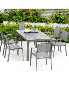 LifestyleGarden Solana 160cm Rectangular Dining Set