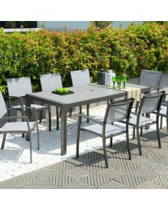LifestyleGarden Solana 210cm Rectangular 8 Seat Dining Set