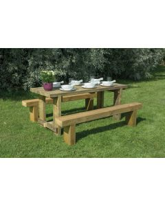 Refectory Table & 2 Benches 1.8m