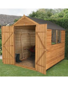 Overlap Apex Shed - Double Door