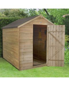 Pressure Treated Overlap Apex Shed - Small No Window