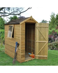Tongue and Groove Pressure Treated 4x6 Apex Shed