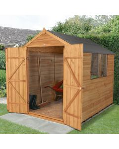 Overlap Pressure Treated 6x8 Apex Shed ( Double Door)