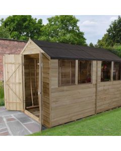 Overlap Pressure Treated 6x10 Apex Shed (double doors)