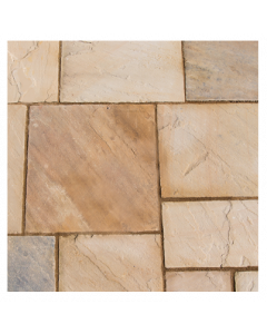 Natural Sandstone Patio Kit 15.3 m² Eastern Sand