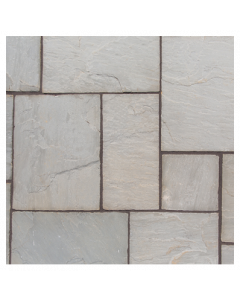 Natural Sandstone Patio Kit 10.2 m² Lakefell