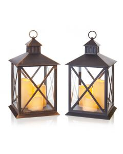 Lantern with 3 LED Candles