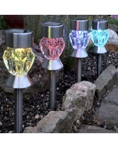 Stainless Steel Crystal Stake Light
