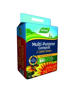 Multi Purpose Compost with John Innes Bale (enriched with BIO3) (Flashed 20L + 5L FREE)  25L